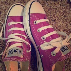 Converse All Star Purple (Women's size 6, Girls 4)